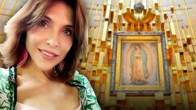 Lorena Meritano está en remisión del cáncer de mama que padece y fue a agradecer a la Virgen de Guadalupe
