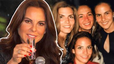 """Kate del Castillo comienza a reencontrarse con sus amigas, """"las lagartonas"""""""