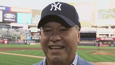 Los Yankees de Nueva York rinden homenaje a Salvador Cruz por su trayectoria periodística