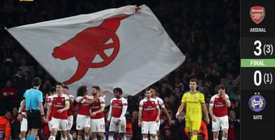 ¡Toda una maquinaria! El Arsenal apabulla al BATE y se instala en los octavos de final