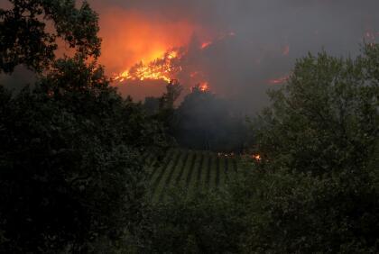 """El incendio de maleza  <a href=""""https://www.univision.com/local/san-francisco-kdtv/incendio-en-napa-explota-a-11-000-acres-y-amenaza-con-destruir-8-500-viviendas"""" target=""""_top"""">comenzó alrededor de las 3:50 am</a> del domingo cerca de la cuadra 200 de North Springs Road y su origen continúa bajo investigación. Por ahora arde sin control al oeste de las ciudades de Calistoga y Santa Helena, en el condado Napa; y al noreste de Santa Rosa, en el condado Sonoma."""