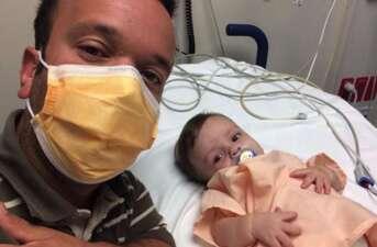 Así se recupera el bebé de Carlitos 'el productor' en el hospital