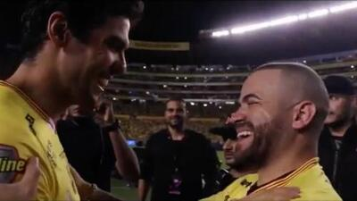 Cuando un ídolo conoce a su ídolo: Nacho estalló de alegría cuando le presentaron a Kaká