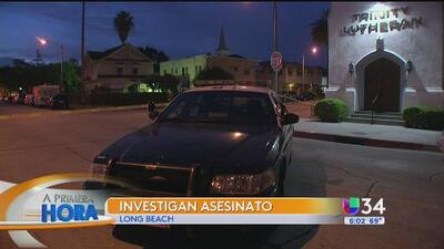Investigan asesinato en Long Beach