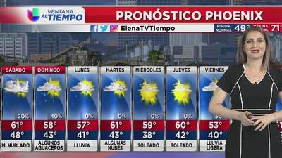 Sábado con ligeras probabilidades de lluvia en Phoenix