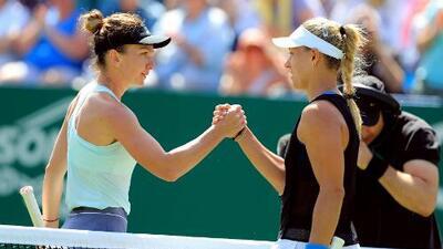 Kerber derrotó a Simona Halep en Eastbourne; Pliskova avanzó
