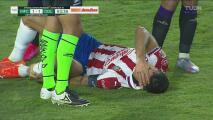 ¿Era penalti? Jesús Molina sufre dura entrada y se va lesionado