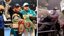 En video: Fanáticos se agarran a puñetazos durante la pelea del Canelo Álvarez y Billy Joe Saunders en Texas