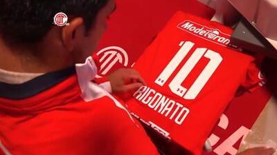 Diego Rigonato es presentado por Sinha como nuevo 10 de Toluca