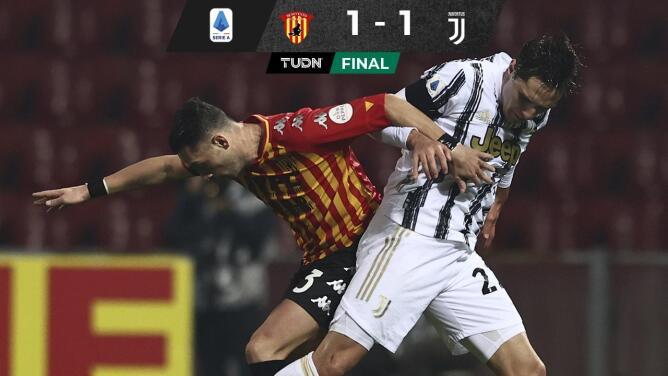 Pesa a la Juventus ausencia de CR7 y apenas empata con Benevento