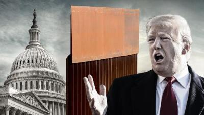 Trump esquiva el cierre del gobierno, pero con la emergencia le declara la guerra al Congreso por el muro con México