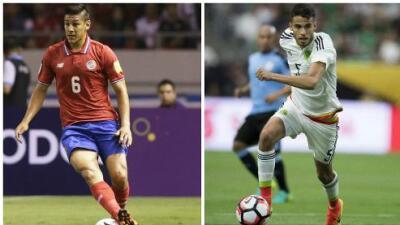 Costa Rica versus México en el Espanyol: Óscar Duarte y Diego Reyes