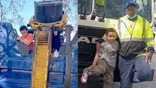 Un niño se escondió dentro de un contenedor de basura y el camión recogedor casi lo tritura