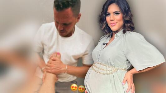 Francisca tiene al mejor masajista para combatir la hinchazón de sus pies en el embarazo