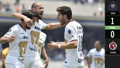 Pumas 1-0 Tijuana - GOL Y RESUMEN - JORNADA 14 - CLAUSURA 2019 - Liga MX