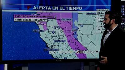 Buena parte de California se encuentra bajo alerta por tormenta invernal y todavía se esperan más lluvias