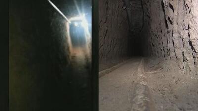 """Video exclusivo: El túnel que sirvió de """"modelo"""" para planear la fuga de El Chapo"""