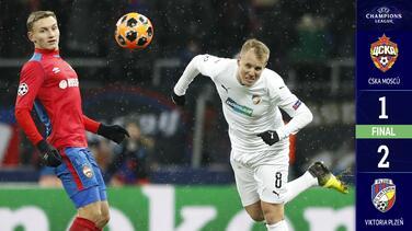 CSKA cayó ante el Viktoria Plzen y clasificó a merengues y romanos