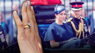 """Meghan Markle presume un """"anillo de eternidad"""" que hace poco le habría regalado el príncipe Harry"""