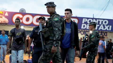 Fuerzas militares brasileñas fueron desplegadas en zona fronteriza con Venezuela