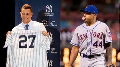 Amigos y rivales: Giancarlo Stanton, de Yankees, vivirá con un New York Met