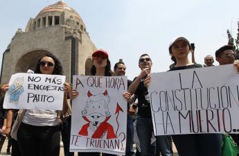 """""""No eres Robin Hood"""", """"AMLO renuncia"""": las frases de las protestas contra el presidente de México"""