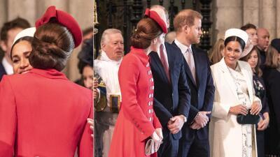 Con dos besos en la abadía, Meghan Markle y Kate Middleton parecen las mejores cuñadas