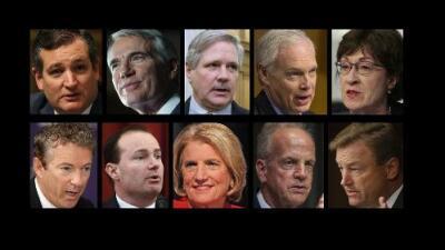 Estos son los 10 senadores republicanos que no quieren la ley de salud que propone su propio partido