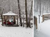 Así se vive la primera nevada de 2021 en Carolina del Norte