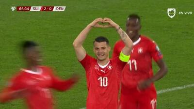 ¡GOOOL! Granit Xhaka anota para Switzerland