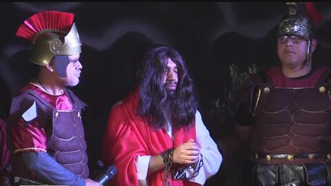 Realizan representación de la Pasión de Cristo en Sacramento