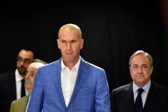Las imágenes y rostros de la presentación de Zinedine Zidane como técnico del Real Madrid