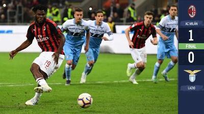 ¡Calientito! El Milan derrota a la Lazio con solitario penalti en duelo que acabó en bronca