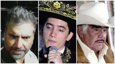 Alejandro Fernández reacciona incrédulo ante una posible gira con su hijo Alex y su padre Vicente Fernández