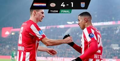 El PSV goleó al Zwolle sin Erick Gutiérrez