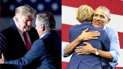 Obama vs Trump: los partidos sacan su artillería pesada en la recta final de la campaña (fotos)