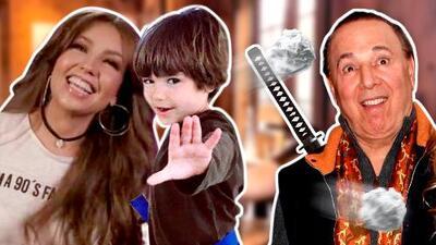 Como un ninja: así evitó Tommy Mottola un 'servilletazo' de su hijo (y a Thalía le gusta)