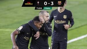 Con 10 hombres, el Barça se impone al Celta de Néstor Araujo