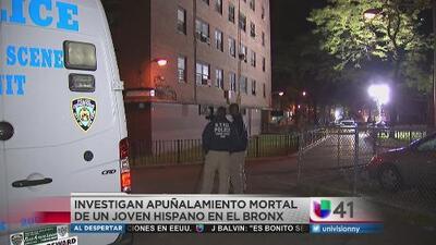 Investigan apuñalamiento mortal de un joven hispano en El Bronx
