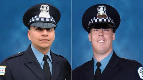 Rinden tributo a dos policías de Chicago que murieron tras ser arrollados por un tren
