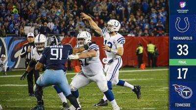 ¡Último invitado a Playoffs! Los Colts derrotan a Titans y ya piensan en los Texans