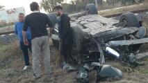 Camioneta de Brian Fernández protagoniza accidente