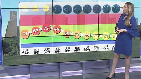 Las tormentas se alejan de Houston y se espera una noche despejada este jueves