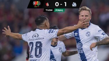 Con todo y grito, Puebla gana ante Atlas en el Jalisco