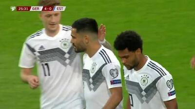 ¡GOOOL! Ilkay Gündogan anota para Germany