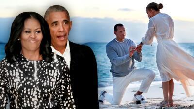Para A-Rod, ninguna felicitación por su compromiso con Jennifer López significó tanto como la de los Obama (¿qué dijeron?)