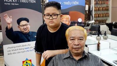 ¿Al estilo de Kim Jong Un o de Trump? En Vietnam regalan cortes de pelo antes de la cumbre