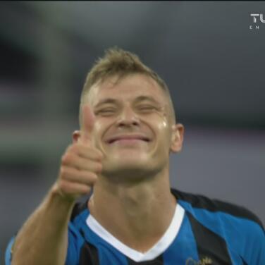 ¡Golazo del Inter! Barella saca un remate potente a la base del poste para el 1-0