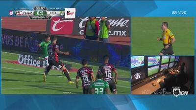 El VAR anuló el gol de Joel Campbell que era el 2-0 del León