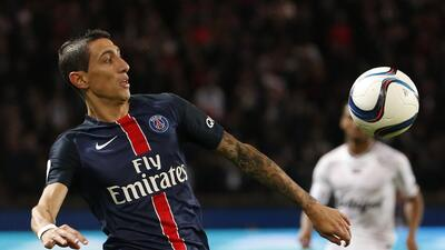 Di María da exhibición en goleada del París Saint-Germain sobre Guingamp